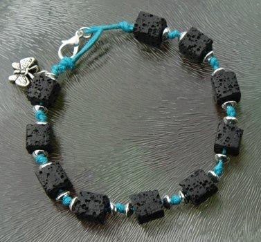 Lava steen armband