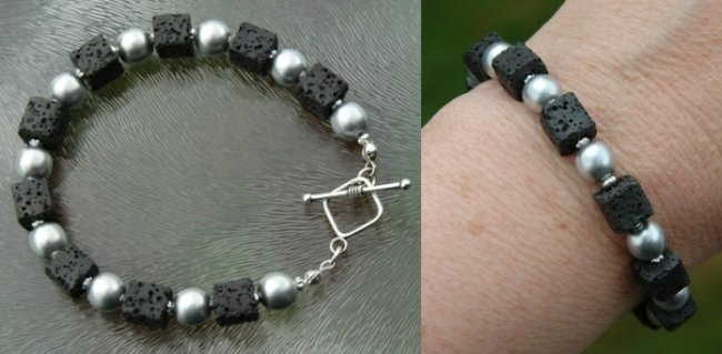 lavastein perlen armband