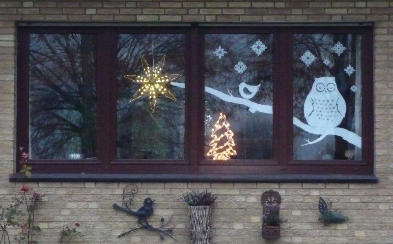 kerst raam versiering 4