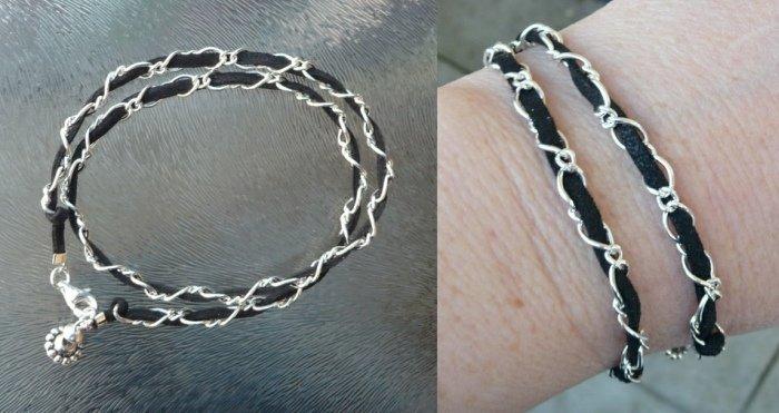 dubbele armband zwart3