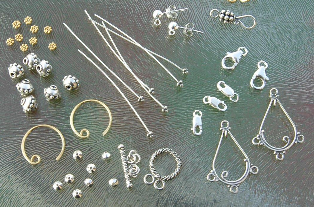 Zilveren onderdelen sieraden maken