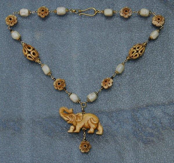 goud olifant ketting