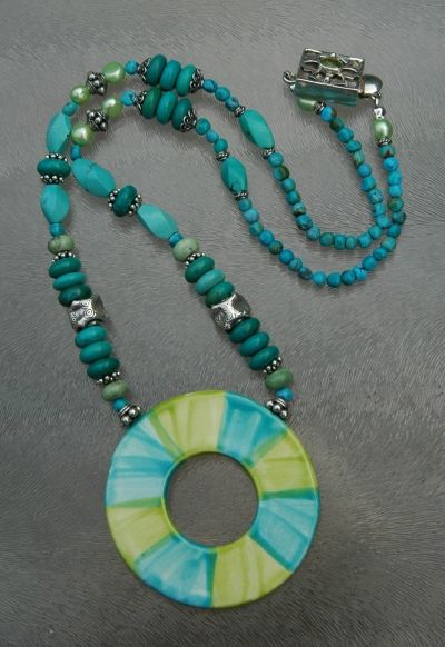 turquoise ketting