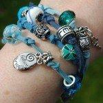 wrap armband blauw