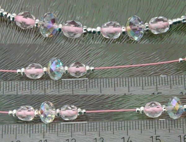 5a033739054 Vervolgens pak je een lineaal erbij en meet elke keer af hoeveel de kraal  of kralen uit elkaar vast gezet moeten worden.